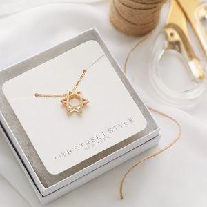 Star of David Necklace | 18k Gold Filled